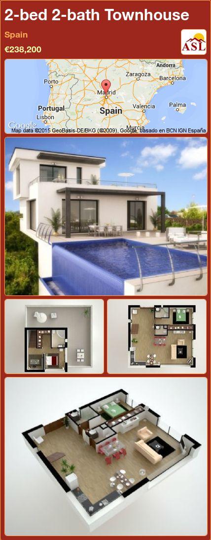 2-bed 2-bath Townhouse in Spain ►€238,200 #PropertyForSaleInSpain
