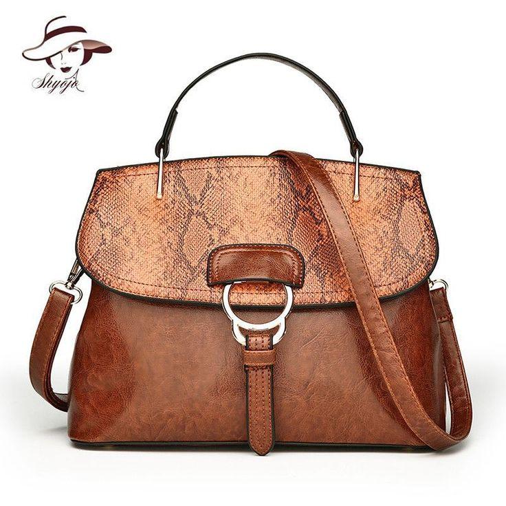2018 New High Quality Fashion Luxury Snake Skin PU Leather Women Bag Ladies Shoulder Bags Handbag Brand Designer Messenger Tote #Affiliate #designerhandbags