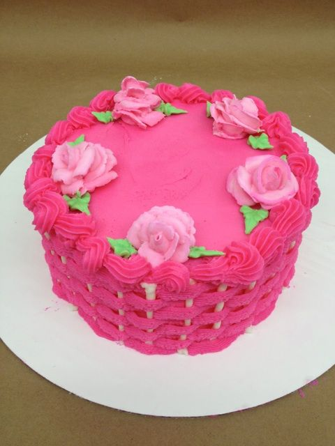 How To Basket Weave Buttercream : Pink basket weave cake alicia s fondant work and