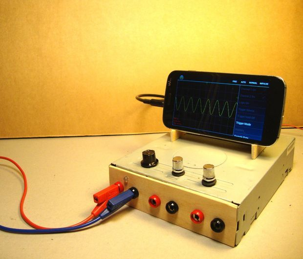 Picture of OscilloPhone: Use your Smartphone as an Oscilloscope / Signal Generator  Get the tech job with your dream company through us http://recruitingforgood.com/