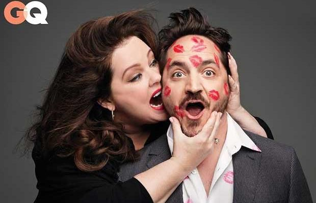 Melissa McCarthy Covers Her 'Tammy' Director-Husband Ben Falcone in Kisses for GQ (Photos)
