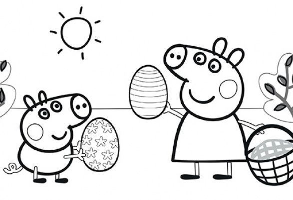 111 best images about malvorlagen on pinterest princess - Coloriage peppa pig ...