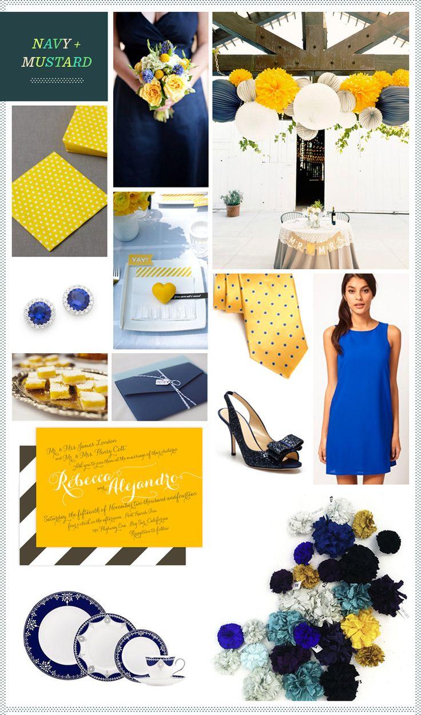 REVEL: Navy and Mustard Wedding Inspiration