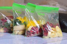 Obst einfrieren und vorbereiten. So hat man ein schnelles Frühstück in der Früh! :-)))