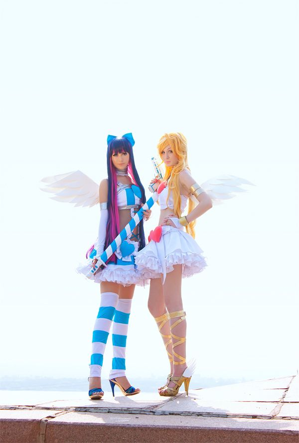 40+ Sexy Anarchy sisters Panty & Stocking photography