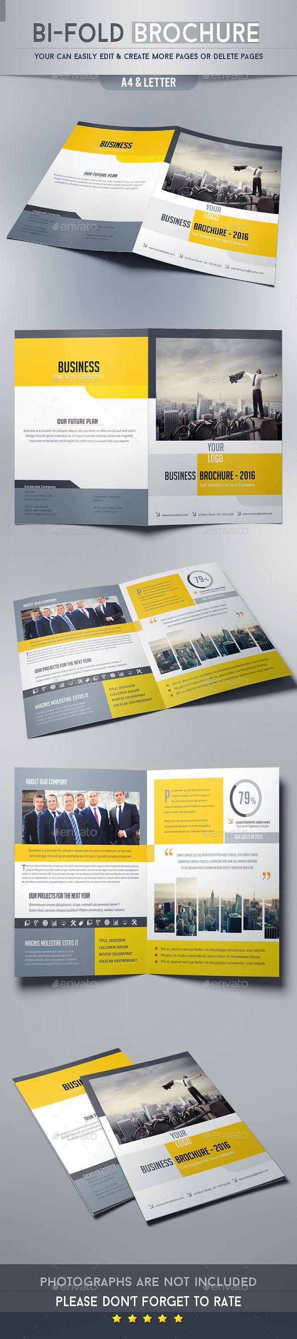 Bi-fold Brochure Template InDesign INDD #design Download: http://graphicriver.net/item/bifold-brochure-template/14029047?ref=ksioks