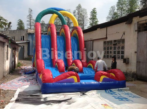 Water Slide with 3 Lines