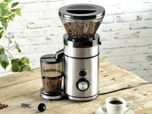 Elektryczny młynek do kawy ze stali nierdzewnej z 18 trybami mielenia! #dom #młynek #kawa