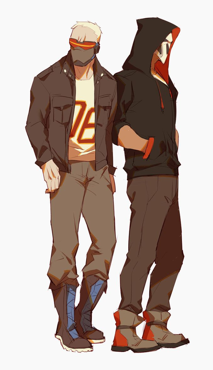 Omg I live and breathe for casual Soldier: 76 and Reaper. My sweet, sweet boys…