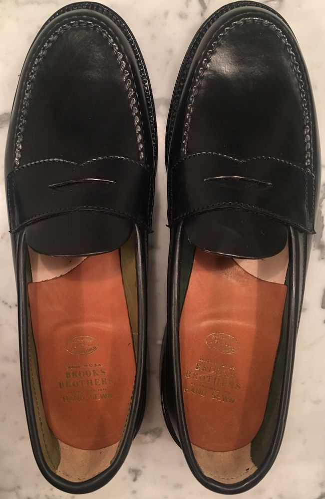 10b590a8485 Shell Cordovan Penny Loafer Unlined Alden 987 Size 9.5d Black Brooks  Brothers  fashion  clothing  shoes  accessories  mensshoes  dressshoes  (ebay link)