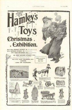 Victorian Christmas Advertisements Hamleys Toys