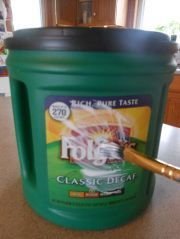 Apparently Folgers coffee has printable labels so you can reuse their airtight canisters