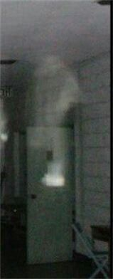 Submitted by Anna & Mark Wolfe Close up of the apparition coming down from the ceiling by the door on the back in 2010 www.deadlive.co.uk
