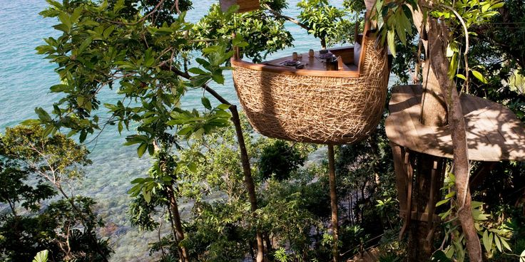 Dining at one of restaurants in Soneva Kiri by Six Senses is certainly an adventure. Treetop dining pod where the waiters zipline in? Yes please! #JetsetterCurator