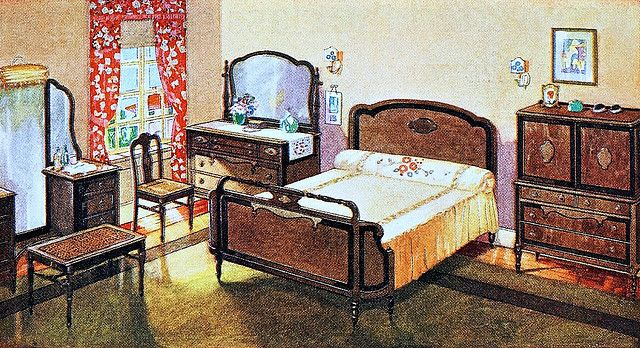 1924 Bedroom    From an ad for Cavalier Furniture in the November 1924 issue of Good Housekeeping magazine.