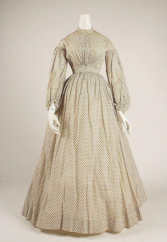 American cotton dress 1830's