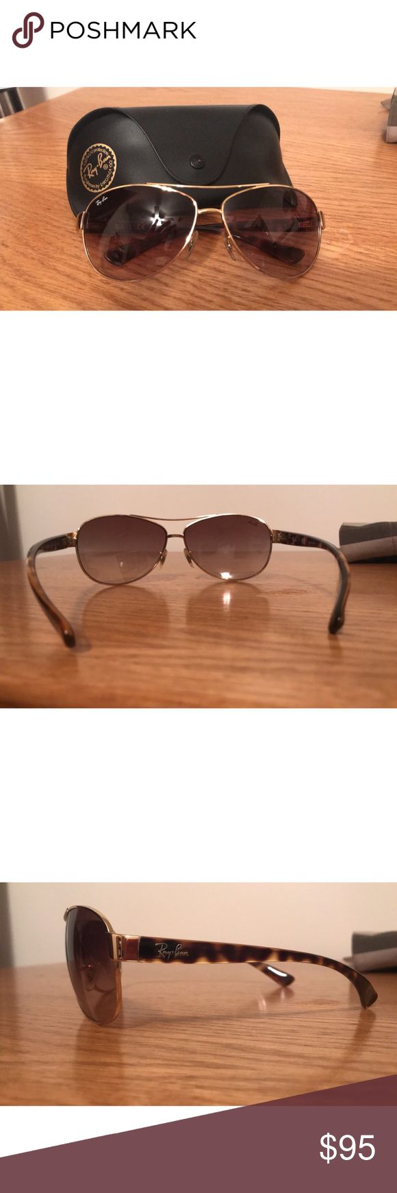 Ran-Ban gold and tortoise women's sunglasses Brand new condition Ray-Ban Accessories Sunglasses