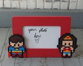 Wonder Woman and Superman Picture Frame by BurritoPrincess