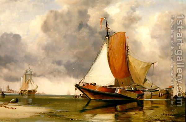 Dutch Barge, 1854 by Edward William Cooke