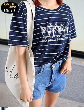 Today's Hot Pick :ペンギン刺繍細ボーダーTシャツ http://fashionstylep.com/SFSELFAA0013711/hkm0977jp/out ペンギン刺繍細ボーダーTシャツ♪ カジュアルな定番ボーダーにペンギン刺繍をプラスしました。 夏モードアップのマリン風アイテム! さらっと軽いコットン素材で着心地も抜群です◎ デニムやショーパンとのカジュアルなコーデがおすすめ! ◆2色:アイボリー/ネイビー