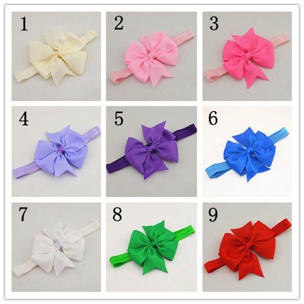 2015 рождественские подарки ребенка бантом аксессуары для волос девочек тканая лента с бантом повязка на голову малыша ленты для волос -