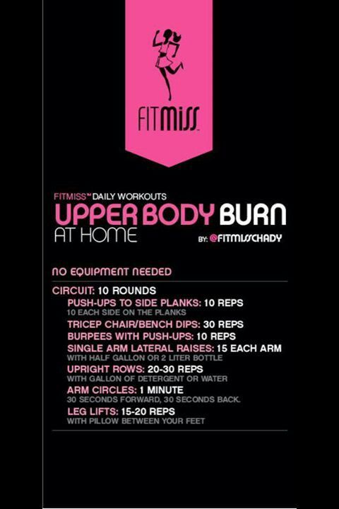 At Home Workout: Upper Body Burn by Fitmiss