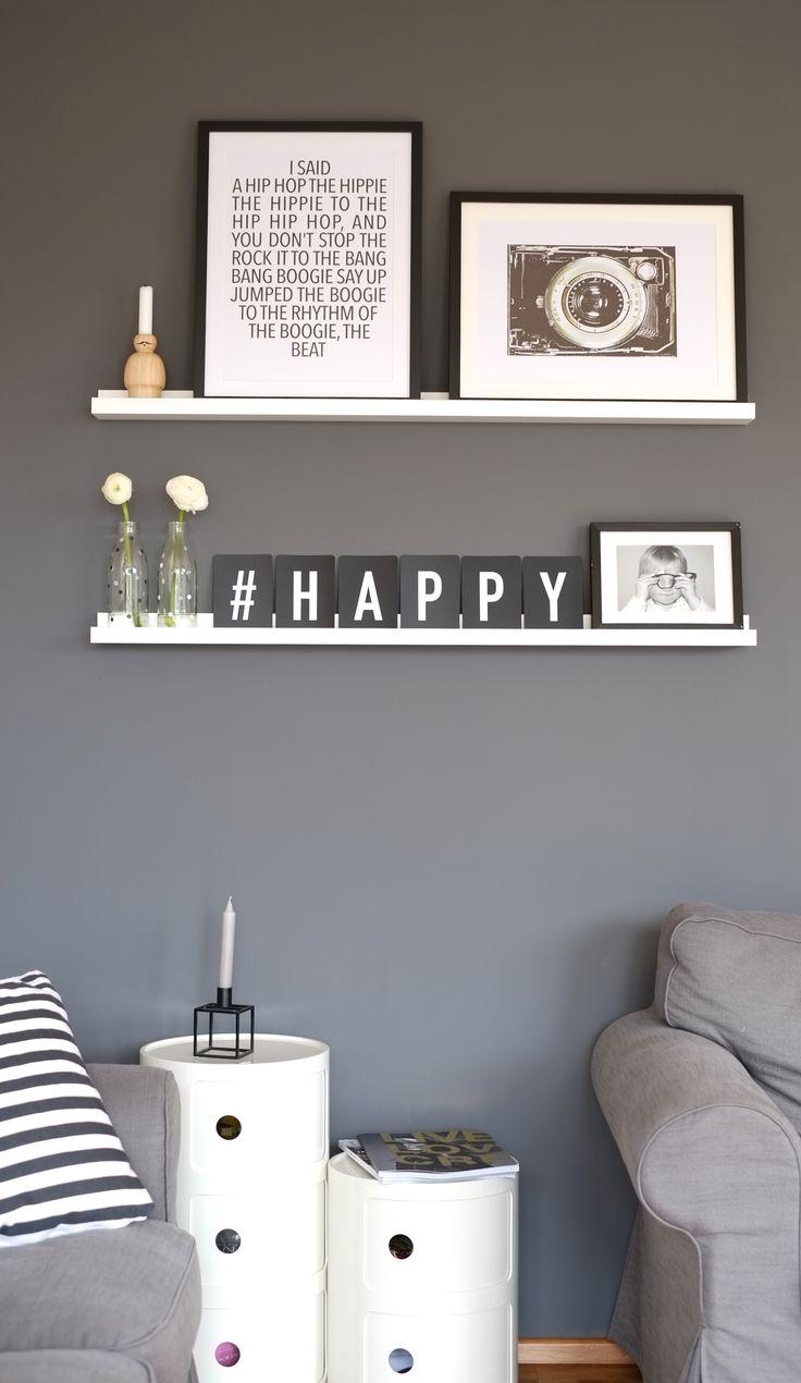 Graue Wände sind cool/Grey walls are cool! Die Buchstaben-Karten gibt es auf www.herrundfraukrauss.com