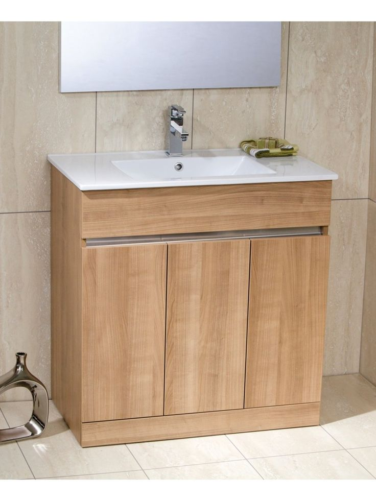 Attica Oak 80cm Vanity Unit & Basin - Totano