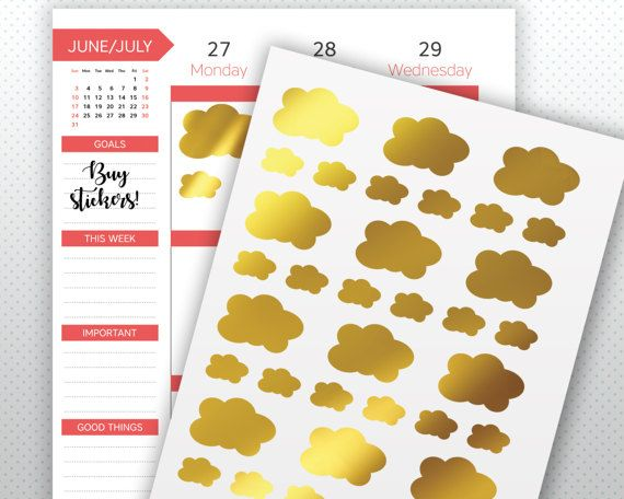 Guarda questo articolo nel mio negozio Etsy https://www.etsy.com/it/listing/498923918/nuvole-doro-etichetta-adesivi-planner