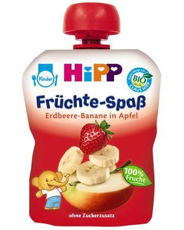 Hipp яблоко, клубника, банан 6 мес. 90 г  — 65р. --------------- Пюре Hipp яблоко, клубника, банан 6 мес. 90 г - вкуснейший продукт для прикорма в удобной упаковке, позволяющей брать пюре с собой на прогулку или отдых. Пюре не содержит красителей, консервантов, ароматизаторов, ГМ компонентов, молочного белка, глютена, ...