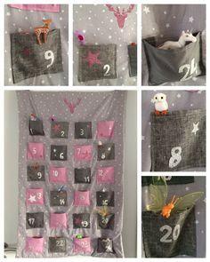 Tuto DIY calendrier de l'avent A paillettes pour petite fille !