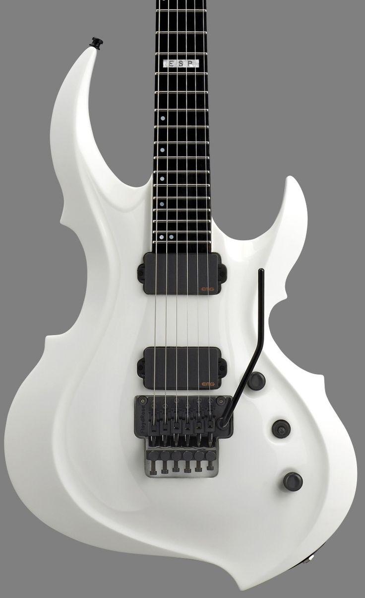 GuitarQueue - 2014 ESP E-II FRX Snow White Electric Guitar, $1,899.00 (http://guitarqueue.com/2014-esp-e-ii-frx-snow-white-electric-guitar/)