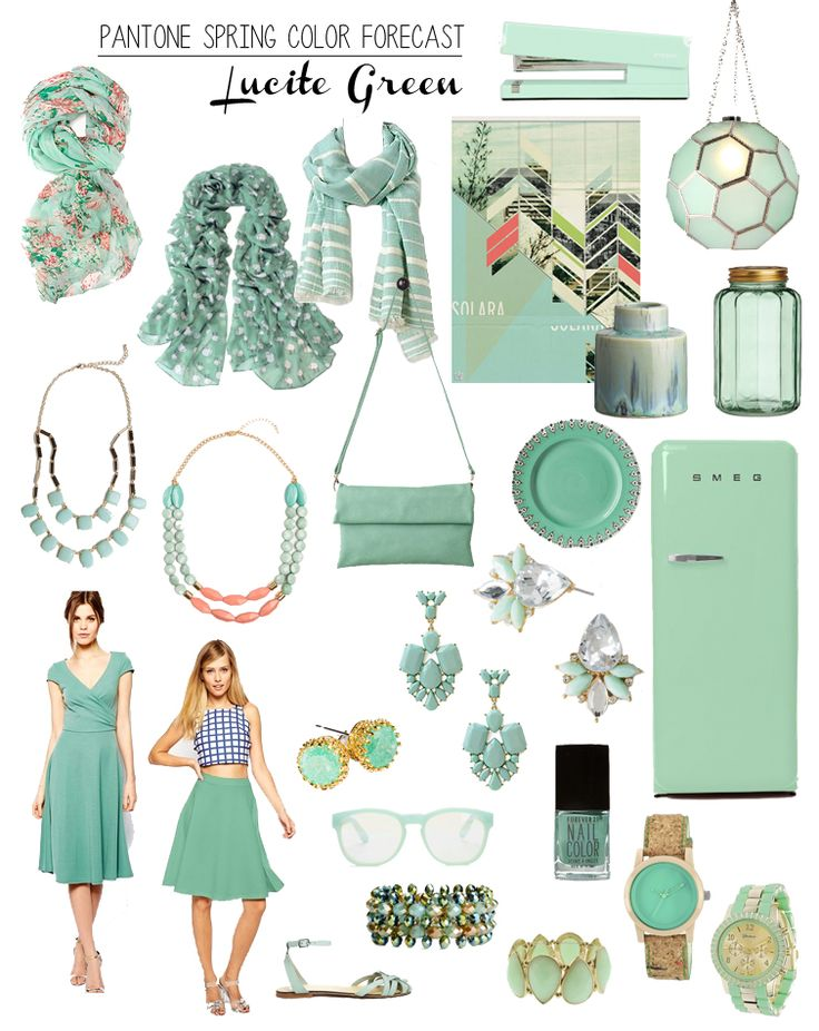Pantone 2015 Lucite Green  Spring Summer 2015, home Furnishing and Interiors color trend report. Decorate your home according to 2015 trends www.delightfull.eu