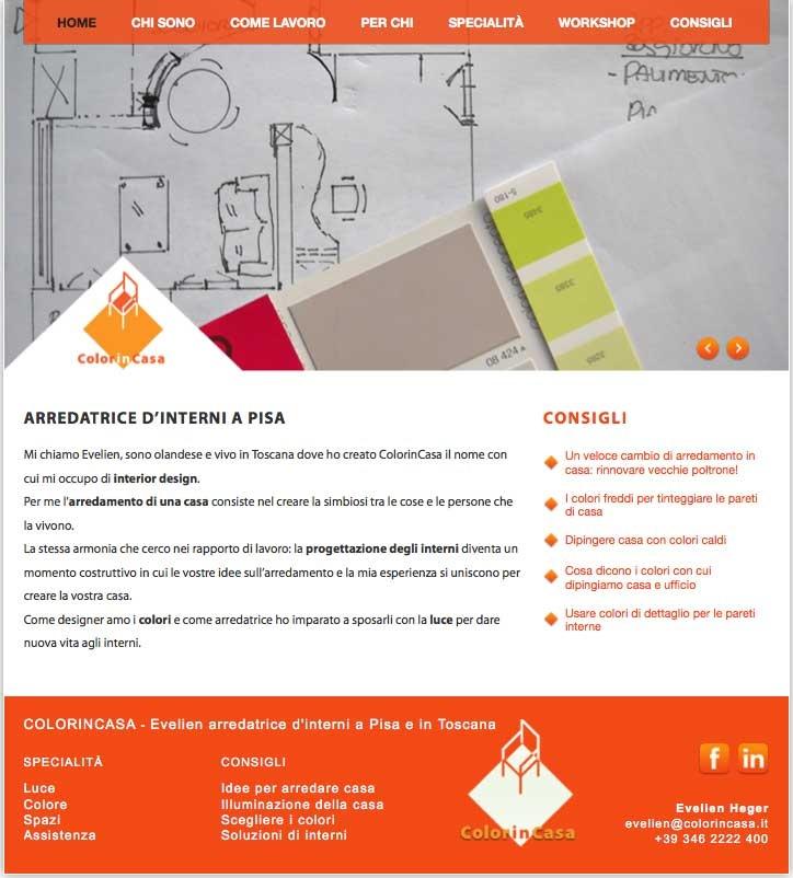 ColorinCasa - il sito dell'arredatrice d'interni pisana Evelien Heger. Webmaster: Roberto Contini - www.colorincasa.it