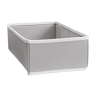 Canvas Changing Table Storage, Gray