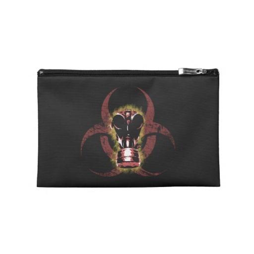 Biohazard Gas Mask Customizable Travel Accessories Bag