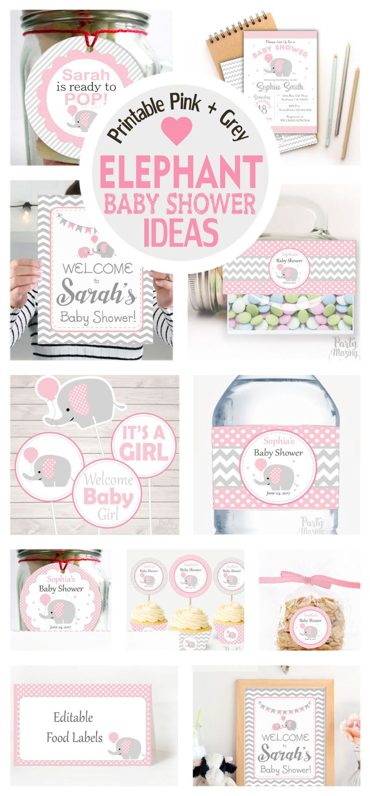 Mejores 5006 imgenes de all diy craft ideas en pinterest pink and grey elephant baby shower ideas party collection solutioingenieria Choice Image