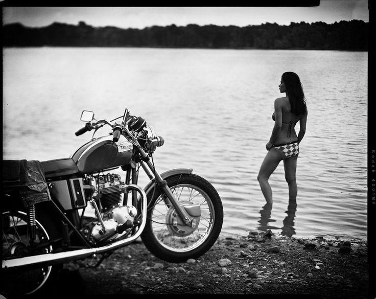 Triumph Motorcycle Babes | 1971 Triumph Bonneville | Thanks Jim, Denyse