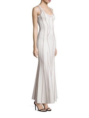 HERVE LEGER Sleeveless Knit Gown. #herveleger #cloth #gown