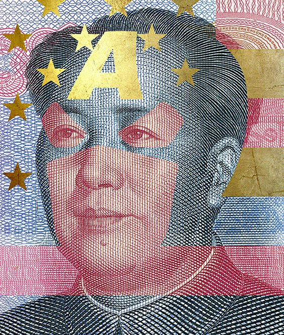 Political Icons Transformed Into Comic Book Superhero Currency