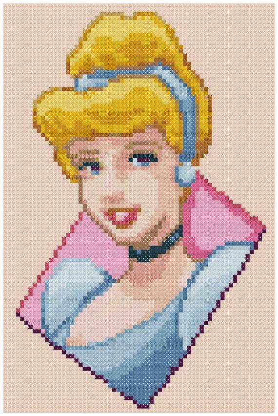 sandylandya@outlook.es Cinderella pattern by PDFcrossstitch