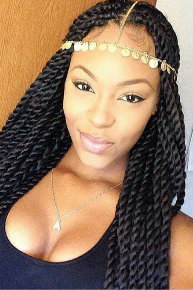 How to style box braids: 50 Stunning Ideas From Pinterest. Always wanted to try this! Maybe in red too!
