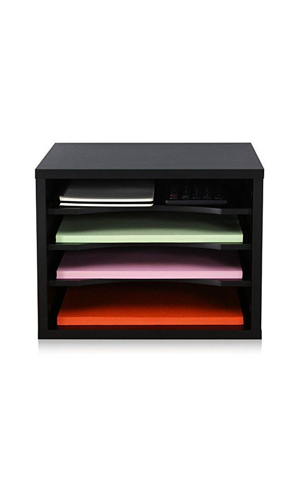 Fitueyes Wood Desk Organizer Worke Organizers Black Do403501wb Deal Price 35 99 From