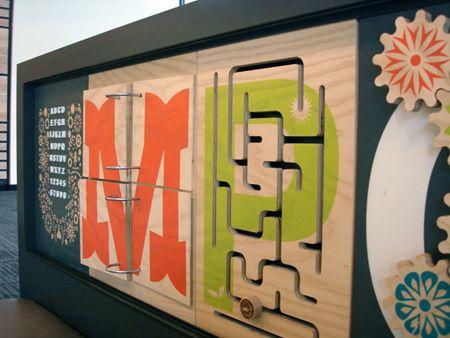 YMCA - Environmental graphics by Chad Evans, via Behance