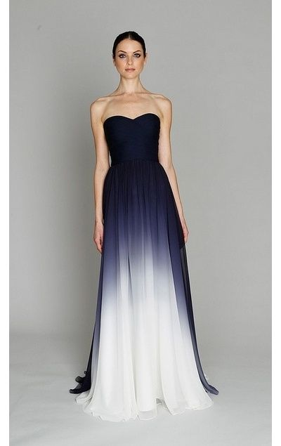 I don't really have a need for dresses any more ..... no one else get married .... but i love this color effect