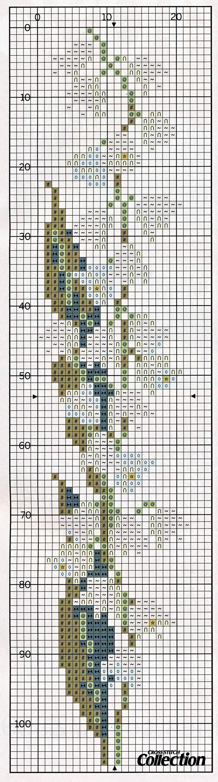 cross stitch bookmark - lily of the valley