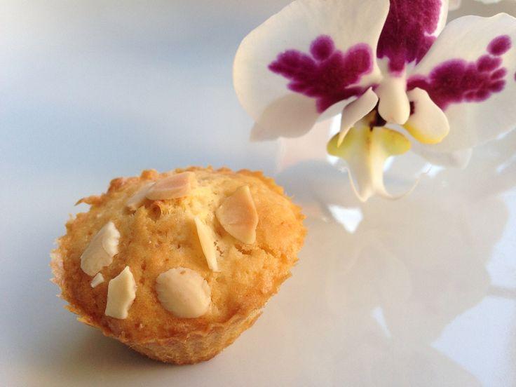 Muffins pommes et amandes.  Visitez le site pour les recettes : www.ondine-a-table.com