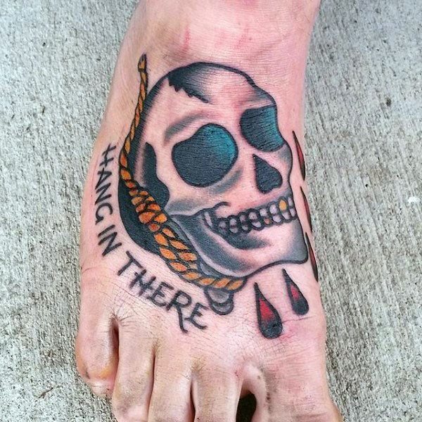 8ea4b4003 50 Traditional Skull Tattoo Designs For Men - Manly Ink Ideas ...