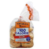 100 Calorie Plain Bagel nutrition data at Calorie Count