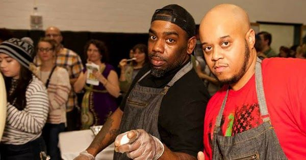 "The Grub Factory, based in Baltimore, Maryland, is a Black-owned vegan restaurant. Founded by three entrepreneurs, Hurani Ame, Heru Mertief, and Imhotep Fatiu, the restaurant serves gyros, reubens, pepper steaks, shrimp salads, and curry ""chick'n"" -- all vegan."